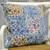 Patchwork Large Multi Coloured Cushion
